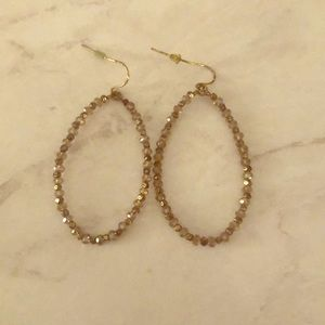 Francesca's Sparkly Beaded Hoops